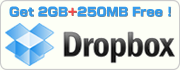 Signup Dropbox with +250MB
